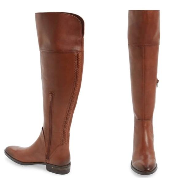 c01b56e5853 VINCE CAMUTO ✨NWOT✨ Cognac OTK Pedra Riding Boots